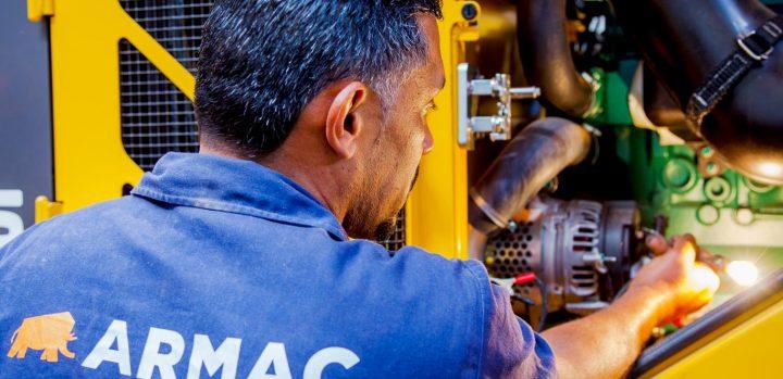 Locação de equipamentos - manutenção Armac